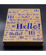 "Super Hello Greeting Hero Arts S1320 Wood Mounted Rubber Stamp 5""X4"" - $7.35"