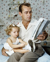 Alan Ladd 16x20 Poster rare candid with his baby daughter in nursery - $19.99