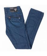 Guess Premium Skinny Mens Jeans Zipper Flap Pockets Dark Wash Size 30x34 - $42.11