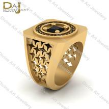 Simulated Black Diamond Anniversary Band Gift For Him Wedding Ring Band ... - £181.37 GBP+