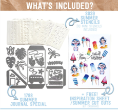 Summer Art Journal Special. NEW!  Elizabeth Craft Designs.