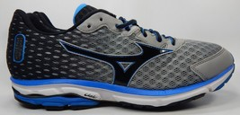 Mizuno Wave Rider 18 Running Shoes Men's Size US 13 M (D) EU 47 Silver Blue