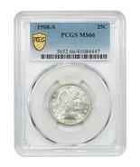 1908-S 25c PCGS MS66 - Superb Gem! - Barber Quarter - Superb Gem! - $5,606.60