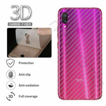 Back Screen Cover Xiaomi Redmi Note 7 6 Film Transparent 3d Carbon Fiber... - $5.66