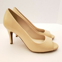Cole Haan Harlow Women's Pumps Size 7 Open Toe Nude Leather - $59.42