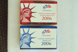 2006 US coin year set; 1 set mint proof & 1 set silver proof; 10 coins/set - $36.00