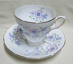 Avon Blue Blossom Cup & Saucer Set Fine Porcelain 1970s - $7.95