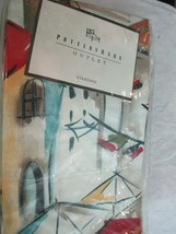 Pottery Barn Outlet Antibes Standard Pillow Sham Palm Trees Sailboats New Rare - $49.99