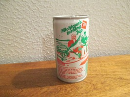 Michigan MI Turning 7up vintage pop soda metal can Lake Michigan fishing  - $10.99