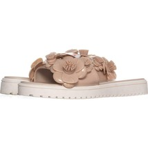 Nine West Relly Jelly Flat Slip On Sandals 153, Natural, 6 US - $16.31