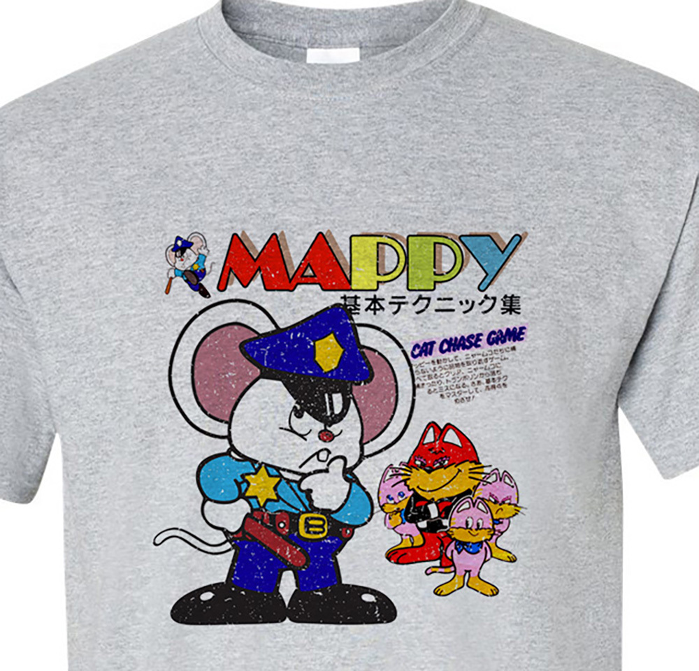 Mappy retro vintage 80 s 70 s video arcade game t shirt for sale online old school