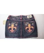 Laguna Beach Jean Co LBJC Denim Mini Skirt Pink Stitching Womens Size 25 - $19.79