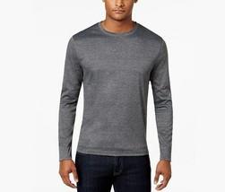 $40 Alfani Men's Soft Touch Stretch Long-Sleeve T-Shirt, Heather Onyx, S... - $18.80