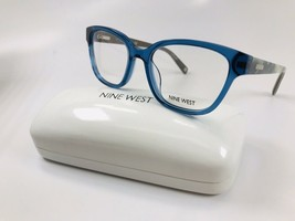 New Nine West NW5113 424 Blue Crystal Eyeglasses 50mm with Case - $44.50