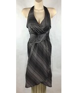 Le Chateau Womens Size XS Dress Halter Plunge V-Neck Wrap Shimmer Sexy B... - $14.99