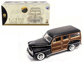 1948 Ford Woody Black 1/18 Diecast Model Car by Road Signature - $121.79