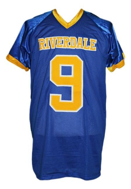 Archie andrews  9 riverdale high school men football jersey blue any size 2
