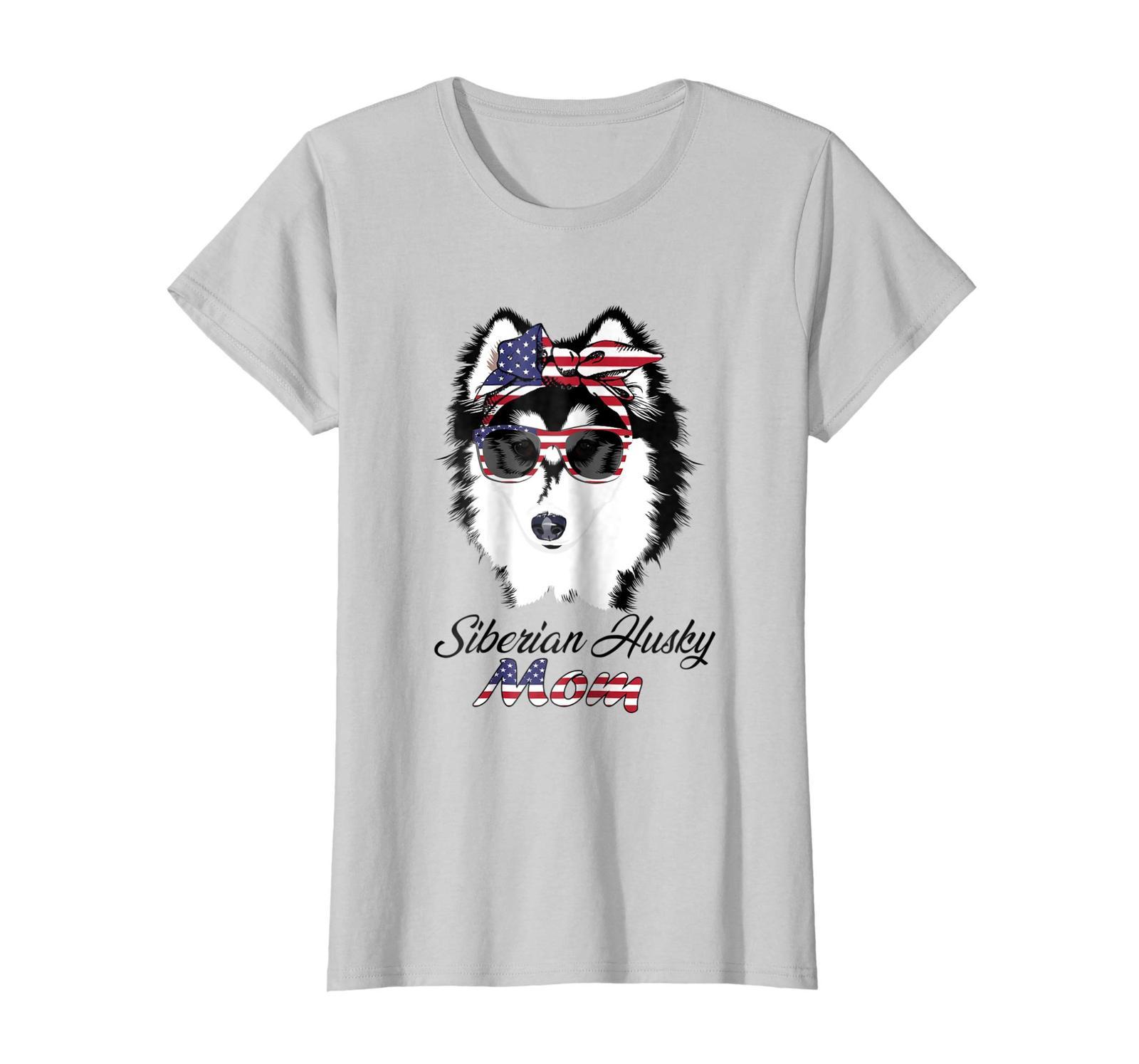Dog Fashion - Husky Gift|Bandana & Glass of 4th of July|Funny Shirt Wowen