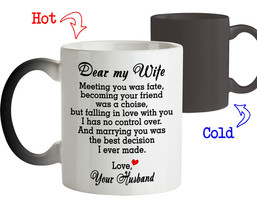 Magic Coffee Mug for Wife Dear my Wife Marrying You was the Best Decision - $18.95+
