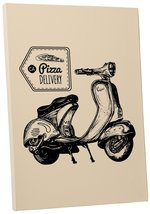 """Pingo World 0722QA69XRY """"Pizza Delivery Scooter Motorcycle"""" Gallery Wrapped Canv - $43.51"""