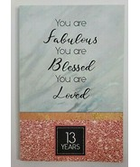 13 YEARS Personal Blank Notebook Journal Planner Notes Fabulous Blessed Gift - $9.99