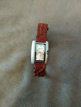 Geneva quartz Water resistant watch wristwatch Speidel genuine leather band - $9.99