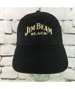 Jim Beam Black Mens OSFA Hat Strapback Advertising Ball Cap 100% Cotton  - $9.89