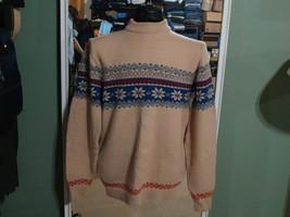 VINTAGE!!  70's  80's Tuxan men's Geometric Snow flake Ski Sweater - $35.99