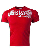 New Polska Poland Bialy Orly Adult Medium Pilka Nozna WC2018 Football T-... - $15.84