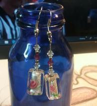 "Vintage Jewelry:2"" Hook Large Clear Bead Earrings 10-10-2018 - $5.93"