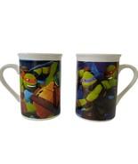 Set of 2 Teenage Mutant Ninja Turtles 2014 VIACOM Coffee Tea Cocoa Mugs - $12.94