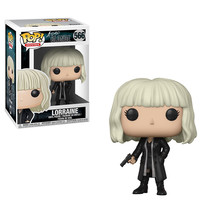 Funko Atomic Blonde POP Lorraine With Gun Vinyl Figure #566 Black Coat - $9.85