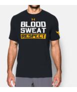 Under Armour Mens UA Project Rock Blood Sweat Respect HeatGear T-Shirt S... - £21.38 GBP