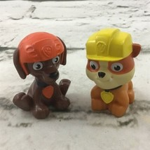 Nickelodeon Paw Patrol Mini Figures Lot Of 2 Zuma Rubble Spin Master Ltds  - $9.89