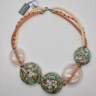 NECKLACE ANTIQUE MURRINA VENICE WITH DISCS BIG OF MURANO GLASS COA75A03