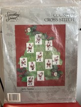 Vintage 90s Something Special Counted Cross Stitch Kit Jolly Santa's 50596 1991 - $5.00