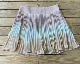 ann Taylor NWOT women's pleated ombré skirt size 10 pink M8 - $16.73
