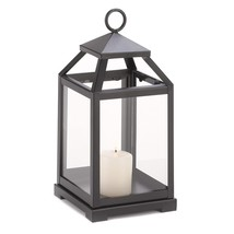Hanging Candle Lantern, Contemporary Outdoor Metal Decorative Candle Lan... - $31.89