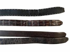 Lot 4 Martin Dingman Men Crocodile Hand Crafted USA Leather Belt 40 LEN Lizard image 3