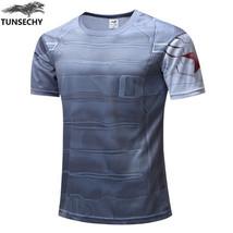 TUNSECHY captain America fashion Brand men's T-shirt avengers alliance r... - $16.81