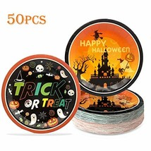 Halloween Plates Party Supplies – Trick or Treat Paper Dinnerware Happy ... - $20.18