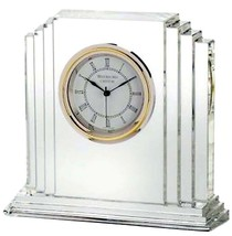 "Waterford Metropolitan 6"" Large Crystal Clock #9803730062 New In Box - $224.90"