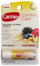 Carmex* 1pc Colloidal Oatmeal Mixed Berry Lip Balm Comfort Care Carded New! 1a - $3.99