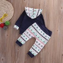 Navy Toddler Infant Baby Girl Boy Clothes Set Full Hooded Tops+Pants Out... - $22.06 CAD+
