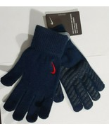 Nike Swoosh Knit Gloves Cool Blue Crimson RED Boy Girl S/M new with tags... - $15.68