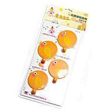 PANDA SUPERSTORE Set of 4 Creative Lovely Birds Fashion Utility Hooks with Wall