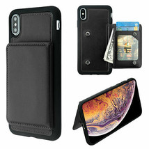 For APPLE iPhone XS Max Black Flip Wallet Executive Case - $12.23