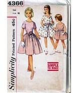Vintage 1960's Girl's DRESS Pattern 4366-s Size 10 - UNCUT - $12.00