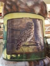 Owl in the Wild American Heritage Woodland Plush Raschel Throw blanket - £18.22 GBP