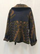 Women Etro Milano Wool Blend Graphic Cardigan Sweater Jacket 40 Made in Italy image 3